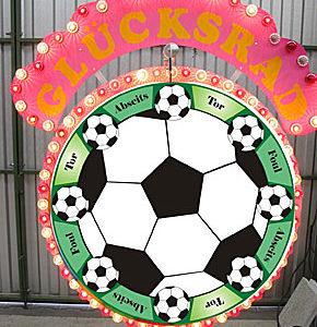 Glücksrad Fussball mit Beleuchtung