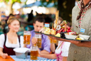 Biergarten und Oktoberfest
