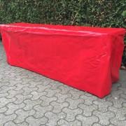 Bierzelt-tisch mit langer PVC Tischdecke