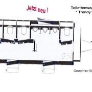 """Grundriss-Skizze Toilettenwagen """"Trendy"""""""