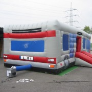 Hüpfburg Bus Rückseite