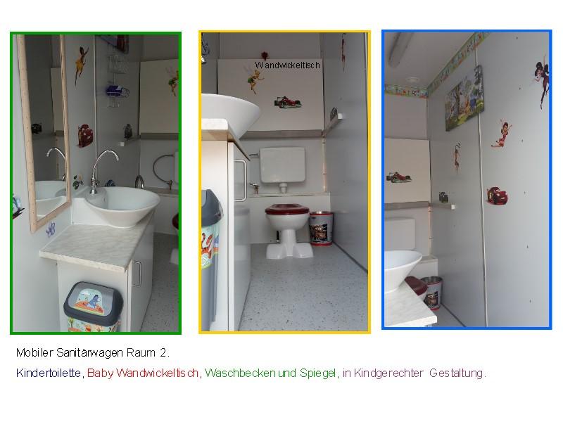mobile sanit ranlage mit behinderten wc sowie kinder wc. Black Bedroom Furniture Sets. Home Design Ideas