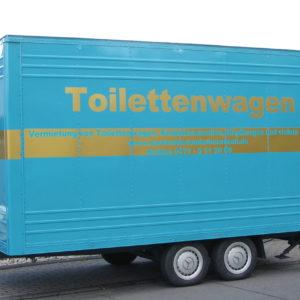 blauer WC-Wagen