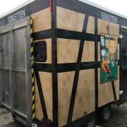 Toilettenwagen mit Behinderten WC & Kindertoilette mit Wickeltisch_Abgebaut