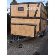 Toilettenwagen-Trendy-Zugdeichsel